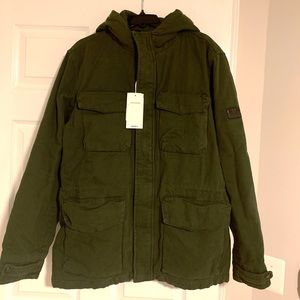 Ben Sherman Field Jacket Coat New Large Hooded